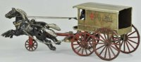 Kenton Hardware Co Cast-Iron-Carriages Horse drawn red...