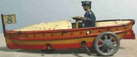 Distler Tin-Penny Toy Motor boat #220, tin lithographed...