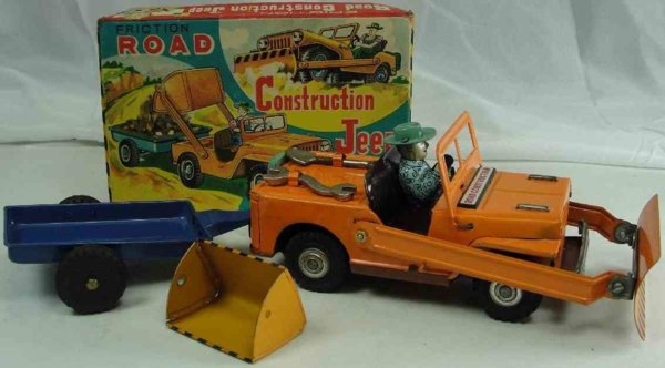 DAIYA Tin-Tugs/Rollers Tin road construction jeep with friction drive and original