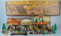Marx Tin-Toys Roy Rogers Western Town tin play set in box...