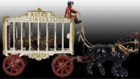 Hubley Cast-Iron-Carriages Royal Circus Wagon white,...