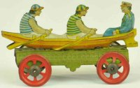 Meier Tin-Penny Toy Rowboat made of lithographed tin,...