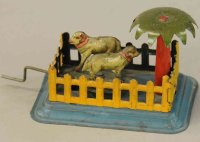 Fischer Georg Tin-Penny Toy Sheeps in pen, embossed...