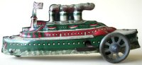 Distler Tin-Penny Toy Steam ship lithographed, with...