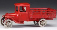 Arcade Cast-Iron trucks Cast iron Ford stake body truck...