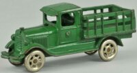 Williams AC Cast-Iron trucks Model A stake truck of green...