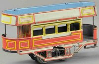 Bing Tin-Trams Trolley made of lithographed tin, small...