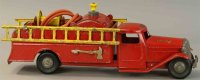 Structo Tin-Fire-Truck Fire department tank truck with...