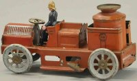 Orobr Tin-Fire-Truck Fire department with clockwork,...