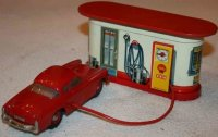 Distler Tin-Toys Electromatic power filling station and...