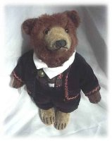 Steiff Baers Teddy baby closed mouth with button, glass...