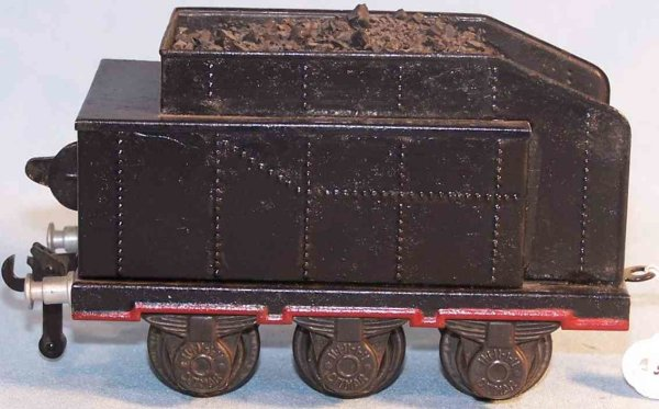 Ditmar Railway-Tender Tender; 3-axis, made of tin, hand-coated in black and red