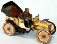 Fischer Georg Tin-Oldtimer Torpedo, lithographed tin,...