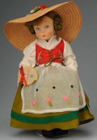 Lenci Dolls Cute all felt child peasant doll with molded...