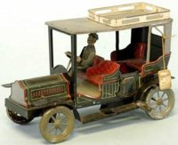 Bing Tin-Oldtimer Tourer lithographed tin, done in green...