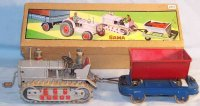 GAMA Tin-Tugs/Rollers Caterpillar with tipper wagon made...