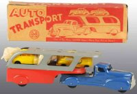 Marx Tin-Trucks Auto transport truck of pressed steel...