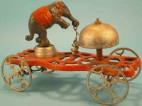 N.N. Hill Brass Co Cast-Iron Figures Trick elephant bell...