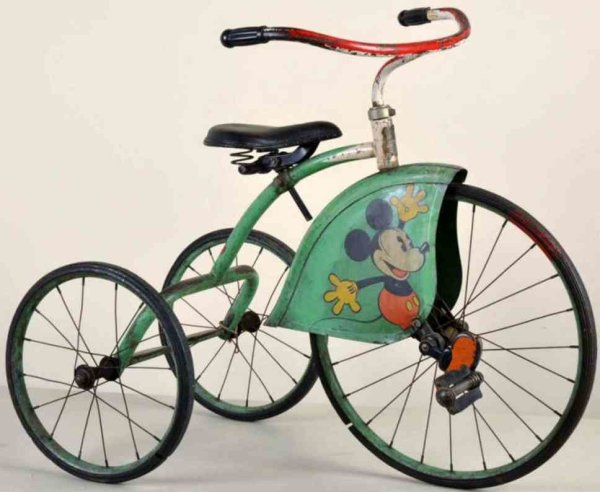 Colsen Tin-Toys Mickey Mouse tricycle made of pressed steel, scarce and earl