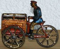 Meier Tin-Penny Toy Triporteur, man on tricycle with...