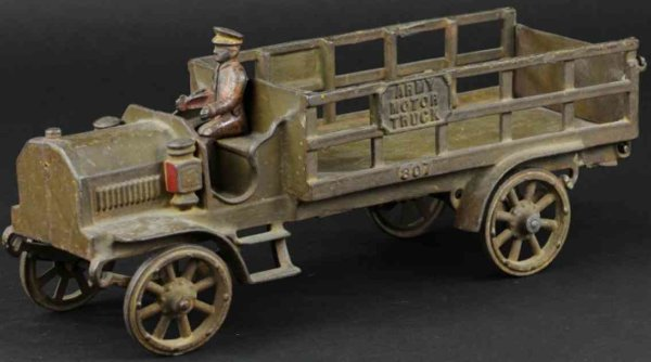 Jones & Bixler Military-Vehicles Army motor truck, lare scale, cast iron, open stake body, pa