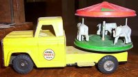 Marx Tin-Other-Vehicles Carousel truck with moving...