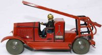 JEP Tin-Fire-Truck Small fire brigade wagon #199,...