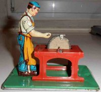 Keim Steam Toys-Drive Models Man at the grinding stone