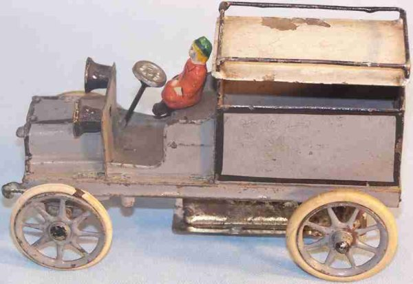 Heyde Tin-Other-Vehicles Sick person truck with clockwork, rubber wheels, fitting for