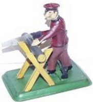 Carette Steam Toys-Drive Models Man Sawing Wood, Full...