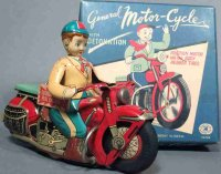 MT Modern Toy of Japan Tin-Motorcycles friction driven...