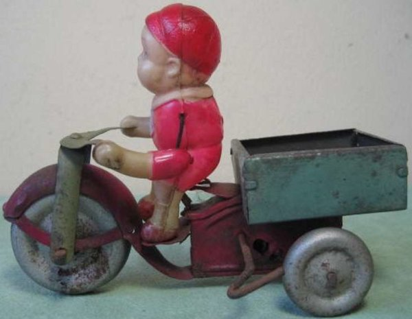 Meiji Tin-Motorcycles Bike with celluloid driver