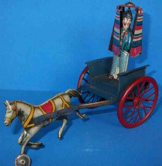 Levy George (Gely) Tin-Carriages Marker on horse car with clockwork