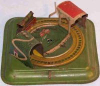 Levy George (Gely) Tin-Penny Toy Railroad game lithographed