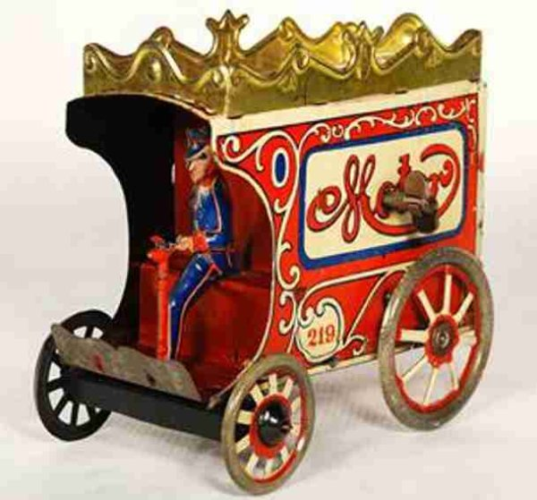 Reil Blechschmidt & Mueller (ORO) Tin-Penny Toy Motor horseless carriage delivery van with uniformed