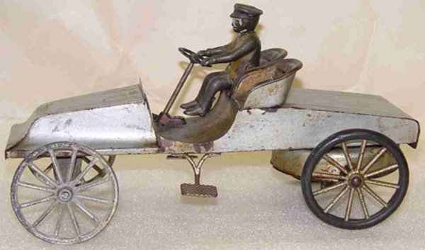 Wilkins Tin-Race-Cars antique Automobile Racer with clockwork, The press steel is