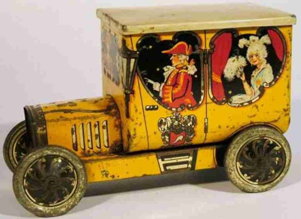 Hudson Scott & Sons Ltd Tin-Other-Vehicles Automobile Figural Biscuit Tin from the Childrens Fairy