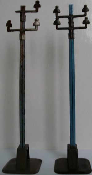 JEP Railway-Telegraph/-poles Telegraph and stream mast in blue and black