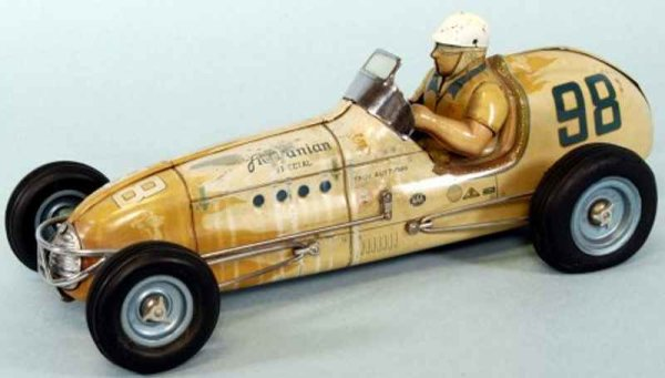Sonya Toys Co Tin-Race-Cars AGAJANIAN SPECIAL, lithographed tin, features seated driver