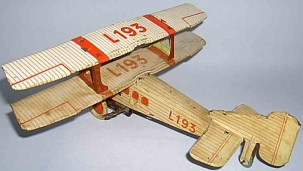 Levy George (Gely) Tine Ariplanes Biplane L 193 with spiral spring drive
