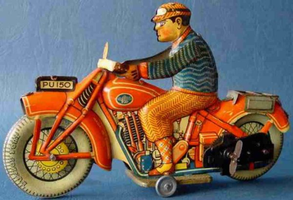 Ullmann Philip Tin-Motorcycles Motorcycle with clockwork
