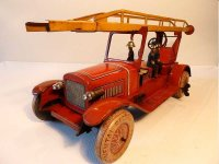 Distler Tin-Fire-Truck Fire engine ladder car with...