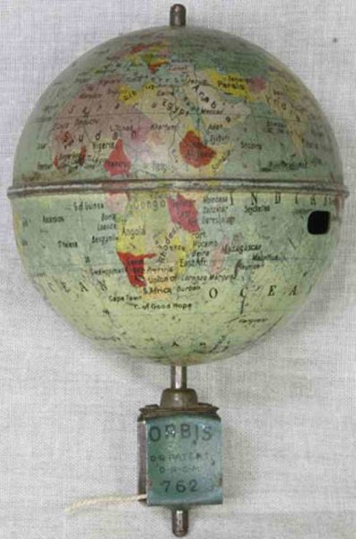 Lehmann Tin-Toys Oribs #762, globe top. This is the big version of the little