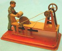 Arnold Steam Toys-Drive Models Man at saw with high...