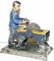 Carette Steam Toys-Drive Models Man with Saw