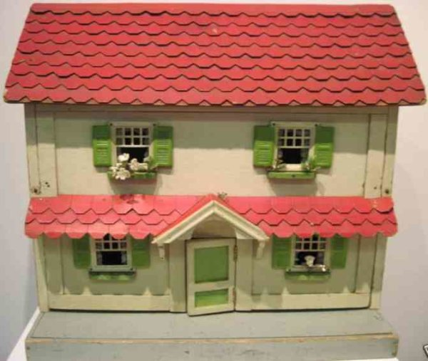 Doll Wood-Buildings Colonial Dollhouse measruements: house: 18.5 X 9 X 16.5 t