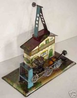 Krauss Wilhelm Steam Toys-Drive Models Mill, if one turns...