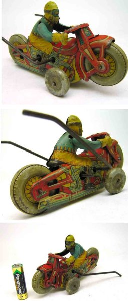 Showa Kogyo Co. Ltd (Showa Industry Co.) Tin-Motorcycles Motorcyle friction toy