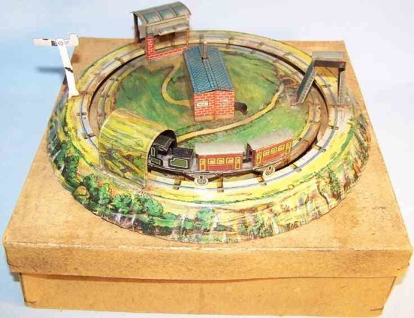 Einco Tin-Toys The Innercircle Train lithographed in green with clockwork