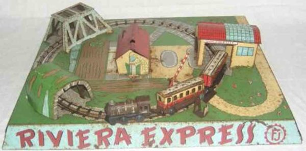 France-Jouet Tin-Toys RIVIERA EXPRESS with clockwork